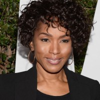 Angela Bassett Curly Short Hairstyles for Black Women