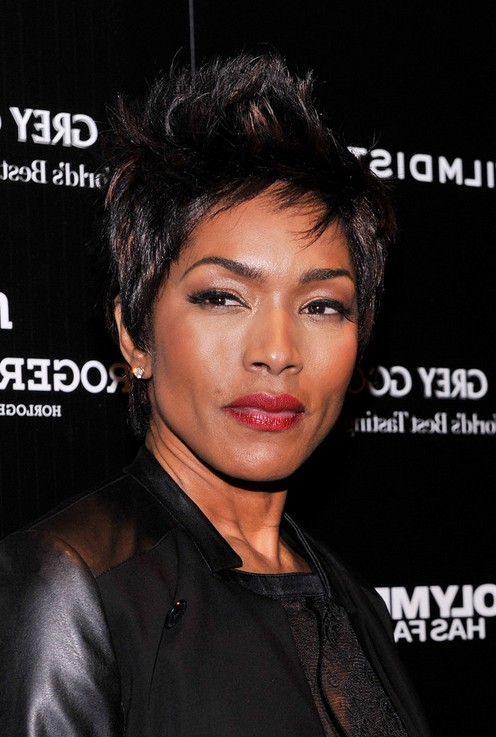 Angela Bassett Edgy Short Spiked Haircut