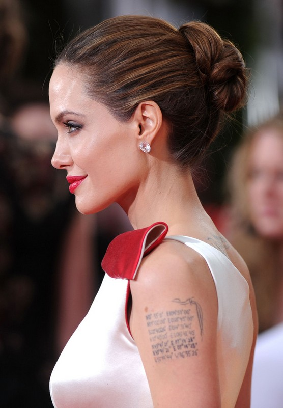 Angelina Jolie Updo: Chic Bun Updos Side View