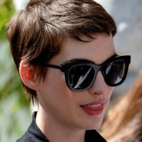 Anne Hathaway Cool Short Pixie Cut for Summer
