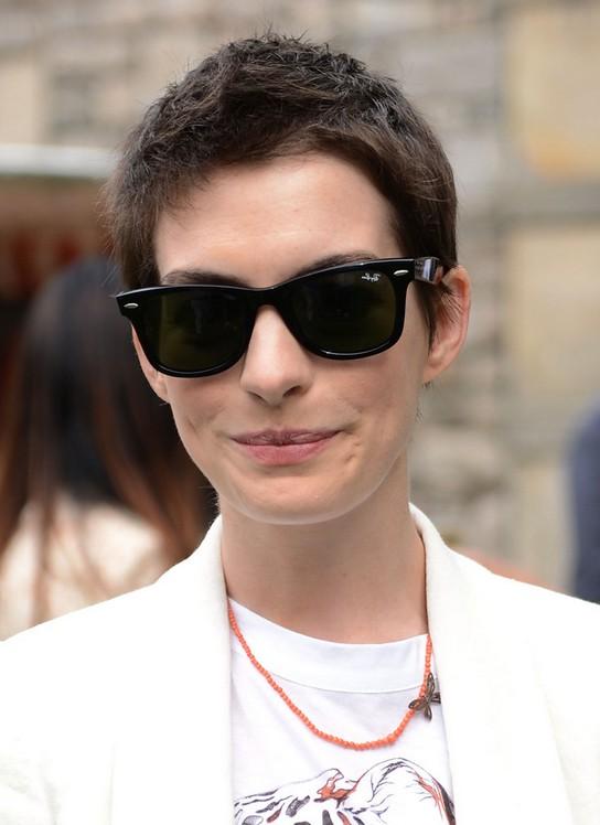 Anne Hathaway Spiky Short Boyish Boy Cut for Women