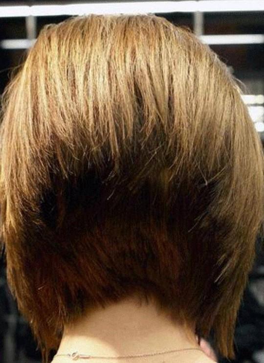 Back View Of 45 Degree Short Wedge Bob Haircut Styles Weekly