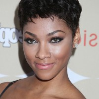 Bria Murphy Short Black Curly Pixie Cut for Black Women