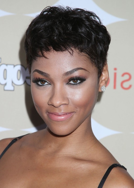 Bria Murphy Short Black Curly Pixie Cut For Black Women Styles Weekly