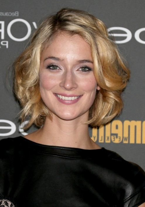 Awesome Caitlin Fitzgerald Cute Short Wavy Curly Bob Hairstyle Styles Weekly Hairstyles For Men Maxibearus