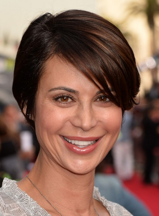 Catherine Bell Side Parted Straight Cut for Short Hair Styles Weekly