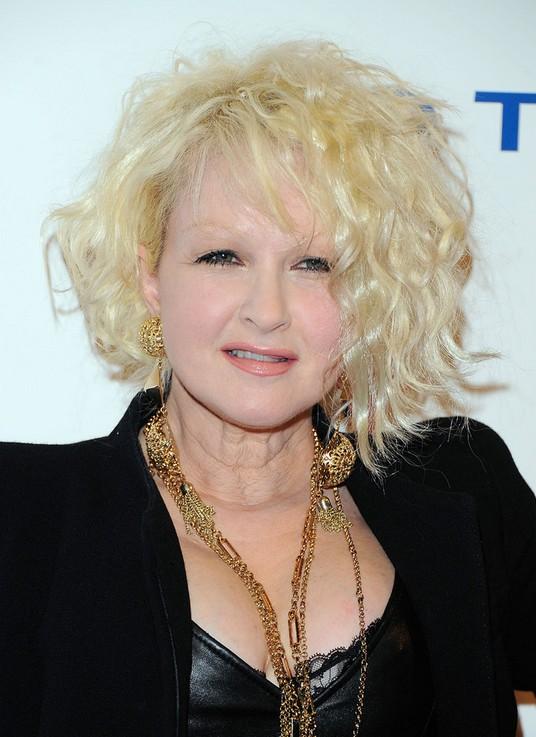 Celebrity Cyndi Lauper Short Blonde Curly Hairstyles