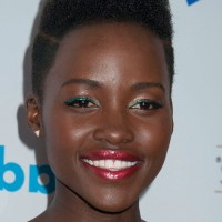 Celebrity Lupita Nyong'o Flat-top Haircut for Black Women