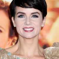 Celebrity Victoria Summer Short Pixie Hairstyle with Bangs