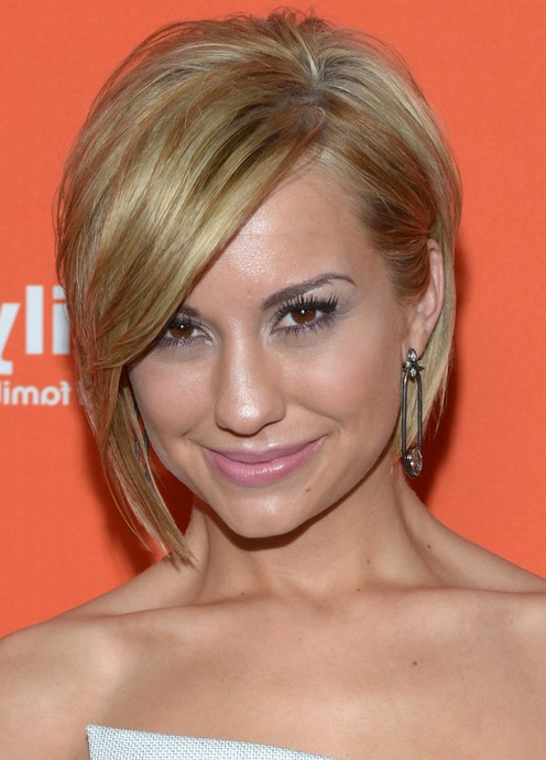 Chelsea Kane Layered Short Haircut With Side Swept Bangs Styles Weekly