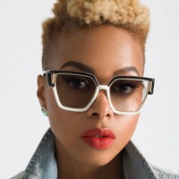 Chrisette Michele Hightop Fade Haircut for Women