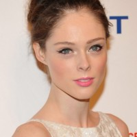 Coco Rocha Bobby Pinned Updo: Formal Hairstyles