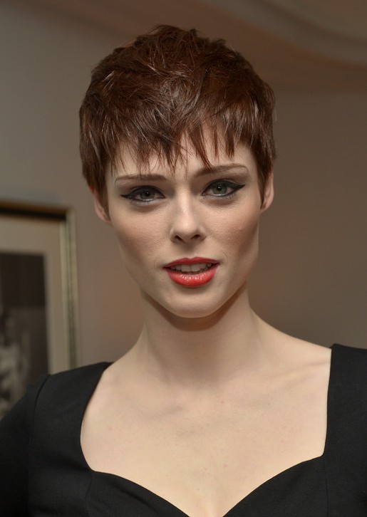 Coco Rocha Pixie: Messy Short Haircut