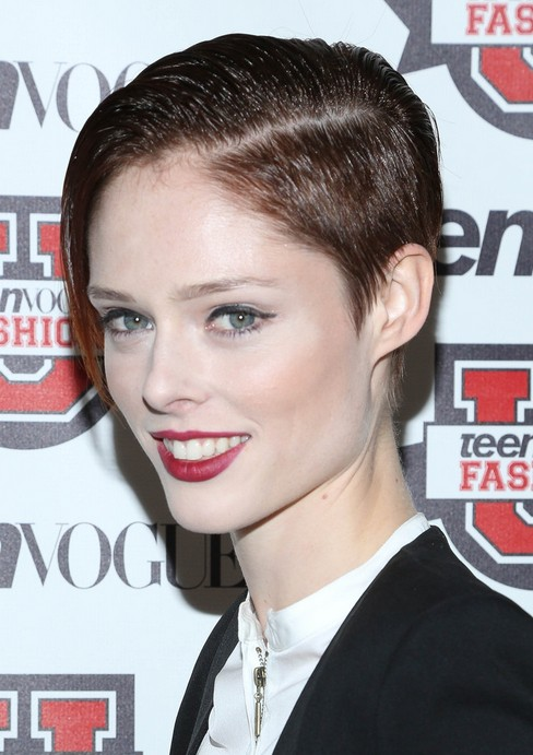 Coco Rocha Short Haircuts: Pixie Hairstyles for Side Long Bangs