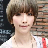 Cute Short Asian Bowl Cut for Women - Asian Hairstyles 2015