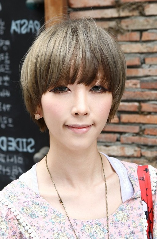 Cute Layered Short Asian Bowl Cut For Women Asian Hairstyles 2015
