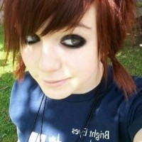 Cute Short EMO Red Hairstyle for Girls