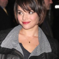 Cute Short Grduated Bob Haircut with Bangs