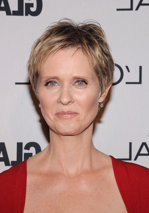 Cynthia Nixon Short Pixie Haircut for Women Over 50 | Styles Weekly