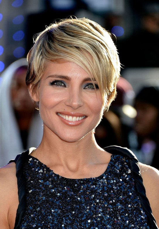 Elsa Pataky Feminine Long Pixie Cut With Bangs Styles Weekly