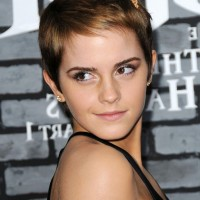 Emma Watson Cute Short Straight Boycut