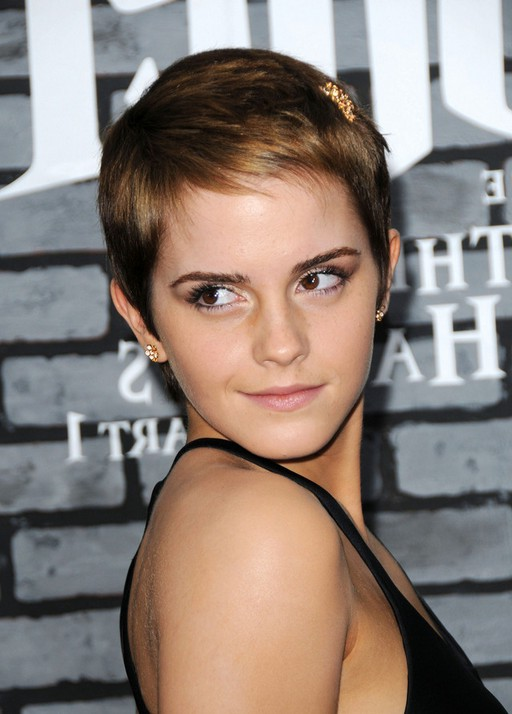 Low Maintenance Hairstyles for Women Emma Watson Boy Cut