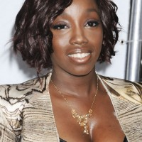 Estelle Short Haircut: Side Parted Curly Hairstyle for Black Women