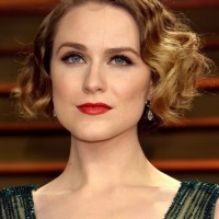 Evan Rachel Wood Short Finger Wave Hairstyle for Party