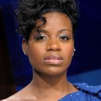 Fantasia Barrino Edgy Short Black Curly Hairstyle for Black Women