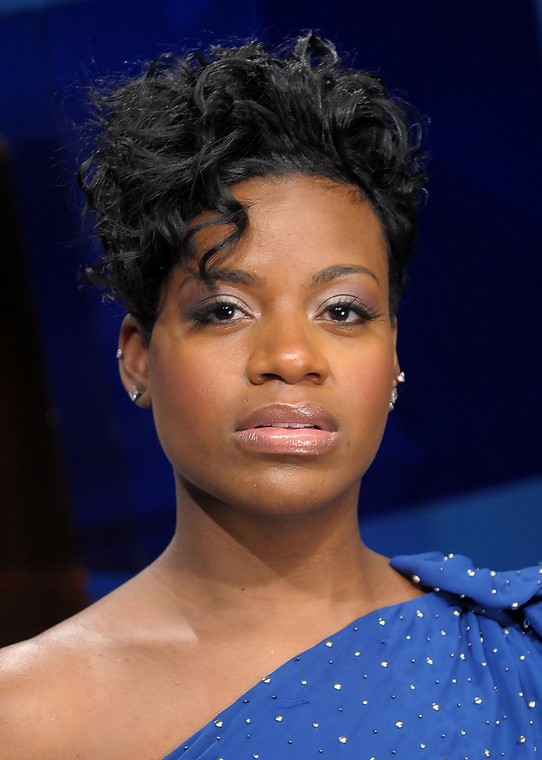 Fantasia Barrino Edgy Short Black Curly Hairstyle For Black Women Styles Weekly