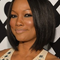 Garcelle Beauvais Short Black Graduated Bob Haircut for Black Women