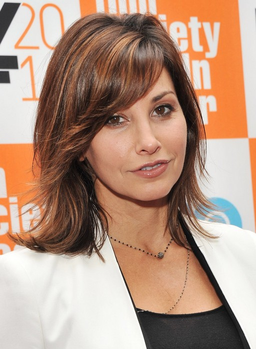 Gina Gershon Layered Hairstyle