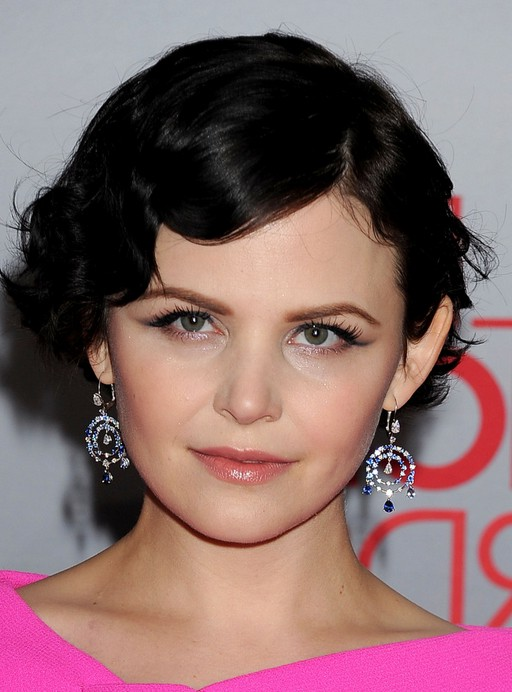 Ginnifer Goodwin Short Black Finger Wave Hairstyle Styles