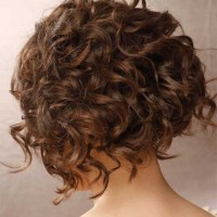 Graduated Bob Haircut for Curly Hair - Curly Graduated Bob Hairstyles