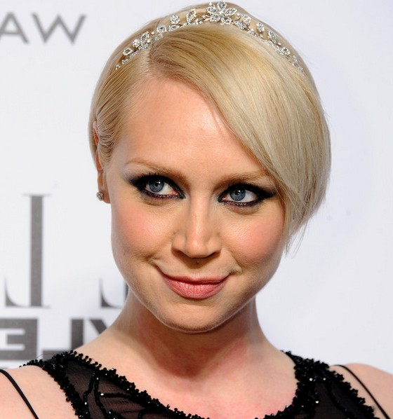 Gwendoline Christie Cute Short Side Parted Straight Cut with Bangs
