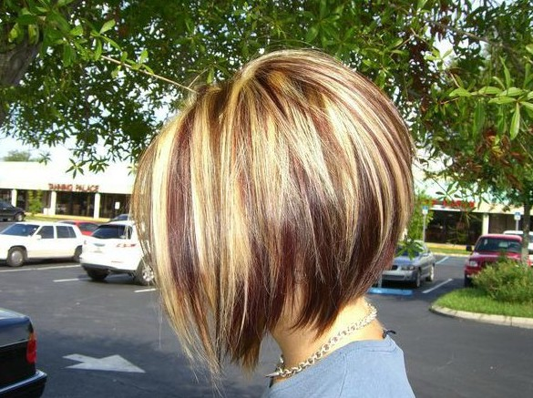 Side View Of Highlighted Inverted Bob Haircut Styles Weekly