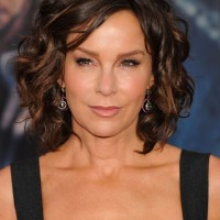 Jennifer Grey Short Brown Curly Bob Hairstyle for Women Over 50