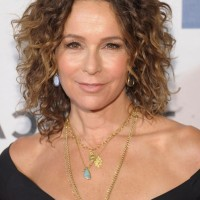 Jennifer Grey Short Curly Bob Hairstyle for Women Over 50