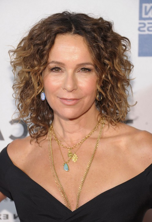 Jennifer Grey Short Curly Ombre Bob Hairstyle For Women