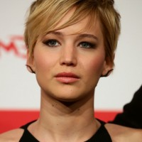 Jennifer Lawrence Layered Short Haircut with EMO Bangs