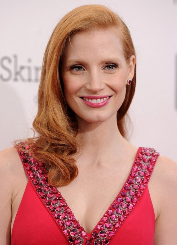 Jessica Chastain Long Hairstyle