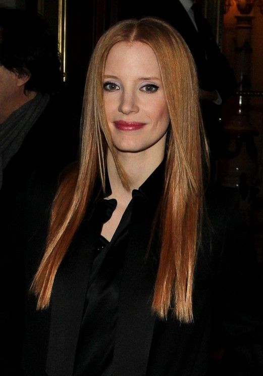 Jessica Chastain Straight Hairstyle