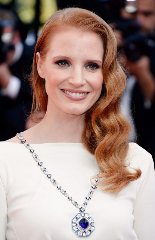 Jessica Chastain Wavy Hair