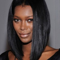 Jessica White Short Graduated Bob Hairstyle for Black Women