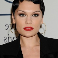 Jessie J 1920's Very Short Finger Wave Haircut