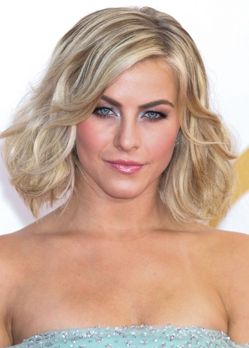 Terrific Julianne Hough Short Blonde Wavy Curly Bob Hairstyle With Volumes Short Hairstyles For Black Women Fulllsitofus