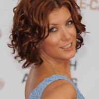 Kate Walsh Short Brown Curly Hairstyle for Women Over 50
