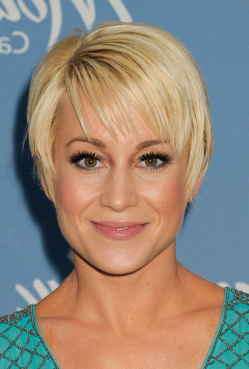 Kellie Pickler Short Blonde Pixie Cut With Bangs Styles