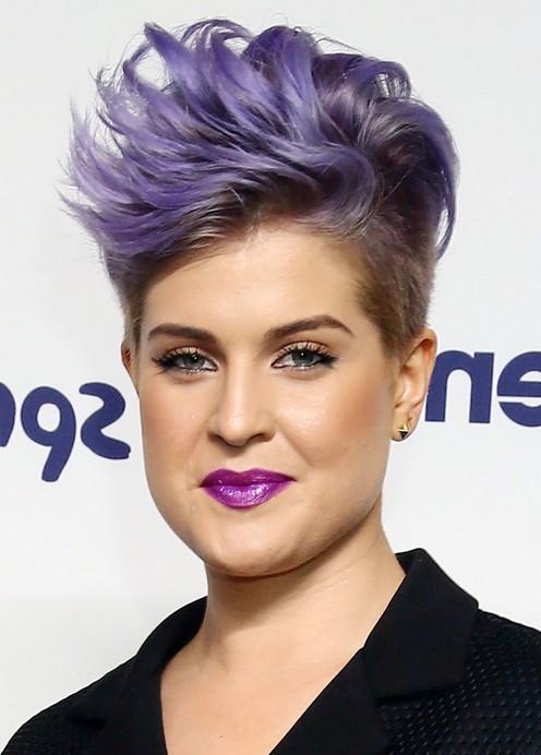 Kelly Osbourne Cool Short Spiked Purple Haircut