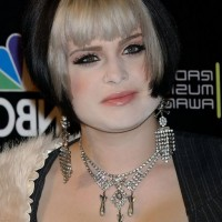 Kelly Osbourne Short Inverted Bob Haircut